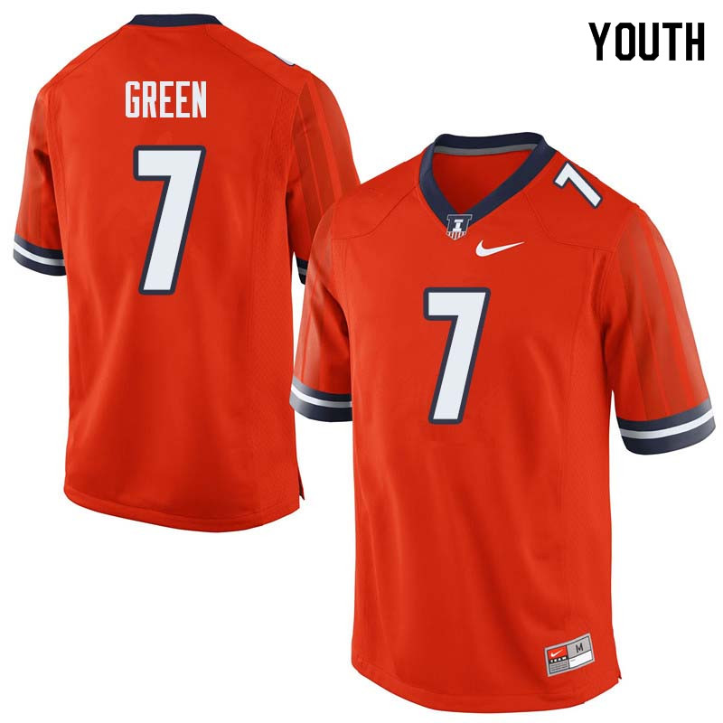 Youth #7 Stanley Green Illinois Fighting Illini College Football Jerseys Sale-Orange